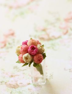 Miniatures - Peonies Bouquet