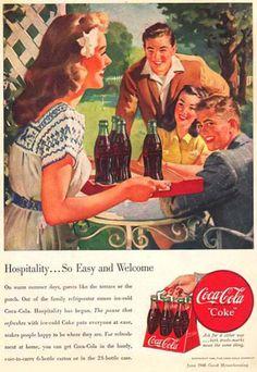 Coca-Cola Hospitality So Easy-To-Carry - www.MadMenArt.com   Coca-Cola is more…