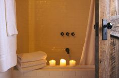 It's getting cold out there - & likely very cold in your stone bathroom as well. For those of you that fly out of your clothes into a hot shower to avoid the feeling of not wanting to get wet, here is a little trick to warm your cold morning. Light a warm scented candle in the bathroom before you turn on the water. The warm aroma from the candle, mixed with the steam from the shower will trick your senses into thinking that it's a little warmer in the shower. Try it...it works!