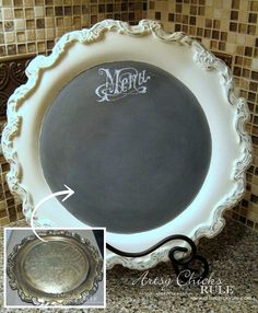 thrift store tray turned menu chalkboard, chalk paint, chalkboard paint, crafts, how to, repurposing upcycling