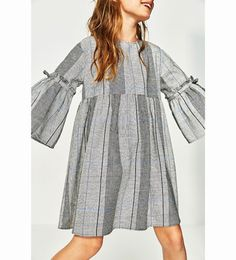 Girls Clothing- Checked Dress Girls 5 - 14 years || ZARA US