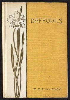 File name: 06_04_000143 Local call number: HMTRL Title: Daffodils [Front cover] Creator/Contributor: Whitman, Sarah (Binding designer); Whitney, A. D. T. (Adeline Dutton Train), 1824-1906 (Author) Genre: Book covers Date created: 1887 (approximate) Physical description: 1 item : book cover Summary/Abstract: Cream and yellow cloth, gold stamped lettering and daffodil. Location: Boston Public Library, Houghton Mifflin Trade Reference Collection Rights: No known copyright restrictions.