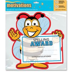 """Southworth Motivations Spelling Bee Award Certificate 8.50"""" x 5.5..."""