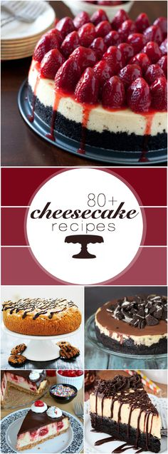 80 Cheesecake Recipes all in one place! No Bake Desserts, Just Desserts, Dessert Recipes, Savoury Cake, Cheesecake Recipes, Let Them Eat Cake, Sweet Recipes, Cupcake Cakes, Bakery