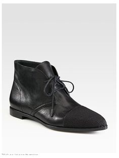 Flat Lace-Up Ankle Boot | Choies