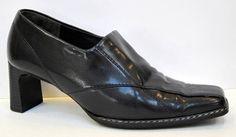 Paul Green Black Leather Loafer Pump Size 5/US 7.5 #PaulGreen #PumpsClassics