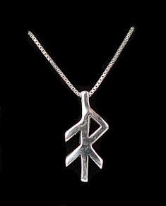 Sterling Rune Pendant - Energy