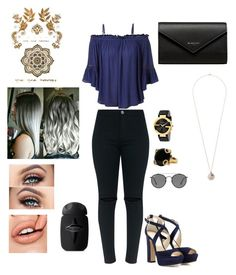 """""""Untitled #129"""" by angelice234 on Polyvore featuring LE3NO, Jimmy Choo, Gucci, Miss Selfridge, Ray-Ban and Balenciaga"""