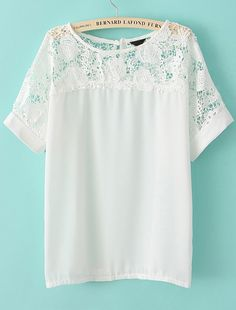 Lace is a gorgeous texture that is big for winter and summer 2013. This shirt is gorgeous for layering in both seasons.