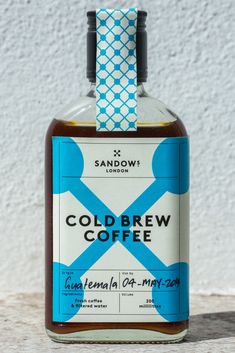 SEE LOOK LISTEN DRINK EAT (COLD BREW COFFEE CRAFTED IN LONDON Making coffee...) in Alcohol Packaging