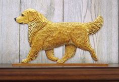 3 Coat Styles-Golden Retriever Show (Dog in Gait) Topper. Home Decor Dog Products & Dog Gifts.