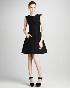 The perfect LBD: Halston Heritage Flared Faille Dress                                            Flared Faille Dress