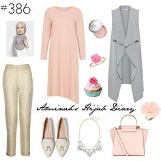 A fashion look from April 2016 featuring zara shoes, pink purse and statement necklace. Browse and shop related looks. Hijab Casual, Hijab Chic, Hijab Outfit, Modesty Fashion, Hijab Fashion, Fashion Outfits, Muslim Women Fashion, Islamic Fashion, Modest Wear