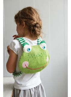 Knitted Frog Backpack  NEW