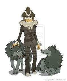 AWW DESCOLE AND HIS WOLVES!!!