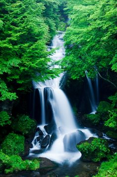 Ryuzu Falls (Dragon's Head Waterfall),  Nikko in Tochigi, Japan
