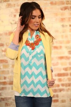 Business Casual Yellow Blazer - Modern Vintage Boutique