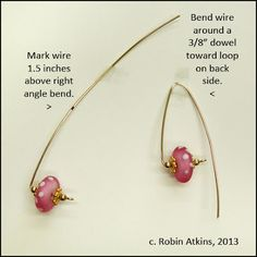 Beadlust: In The Pink ~ Wireworking Tutorial free tutorial