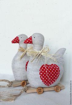 Купить Декоративные текстильные уточки. - уточка, тильда игрушка, интерьерная игрушка, декор для интерьера