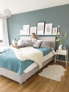 Home bedroom - Wolletje bol HomebySoph Home Bedroom, Bedroom Design, Bedroom Green, Home Decor, Bedroom Inspirations, Room Decor, Room Colors, Bedroom Color Schemes, Bedroom Wall Colors