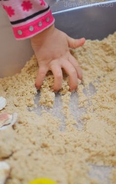 Sticky Sand- Homemade, mold-able sand the kids will LOVE!