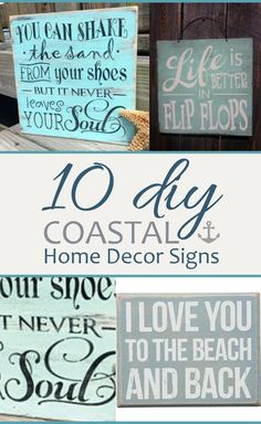 10 DIY Coastal Home Decor Signs
