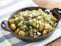 Spicy Portabella and Potato Hash! #vegetables for #breakfast, can make vegan