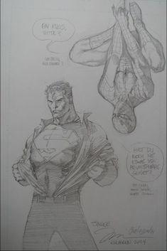 Superman & Spidey by Jim Lee