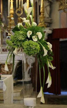 Church Flower Arrangements, Church Flowers, Floral Arrangements, Wedding Ceremony Decorations, Table Decorations, Art Floral, My Flower, Flower Designs, Special Events