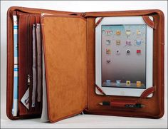 HomemadeLeather-Multifunctional-Leather-Portfolio-iPad-Case via GearPatrol