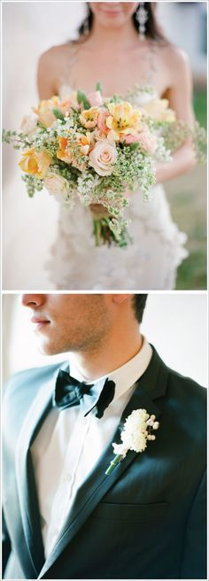 This bouquet is so gorgeous, I might have to rethink the purple/green combo!