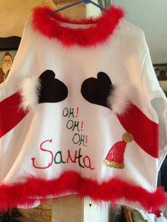 DIY Ugly Christmas sweater party sweatshirt.
