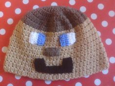 Crochet Minecraft Hat Steve https://www.facebook.com/MariasCrochet