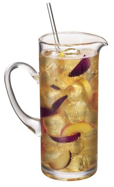 peach and plum sake sangria. 28 oz Gekkikan Sake; 14 oz Kobai Plum Wine; 2 Fresh Peaches, sliced; 2 Fresh Plums, sliced; 2 oz Soda Water.