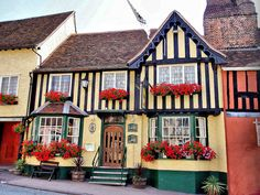 """Lavenham, Suffolk, UK """"The Crooked City"""" British Pub, British Isles, Places Ive Been, Places To Go, Suffolk England, England Uk, English Village, Old Farm Houses, Dream Vacations"""