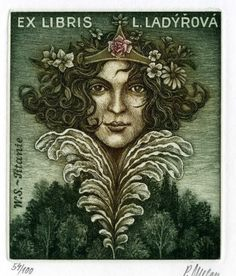 ≡ Bookplate Estate ≡ vintage ex libris labels︱artful book plates - Petr Melan