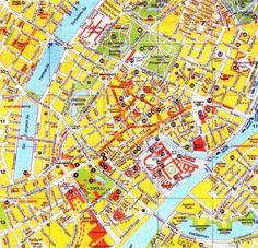 Mappa della Copenhagen - Cartina ddi Copenhagen