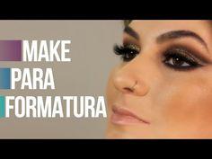 Maquiagem dourada para formatura por Alice Salazar - YouTube