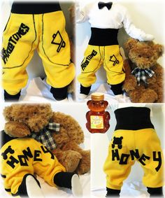 """a small honey-bear-pants for the next generation """"the parlotones"""" fans! in colours of the new album, greets from germany! Honey Bear, American Tours, Germany, Colours, Album, Spaces, Reading, My Love, Sweet"""