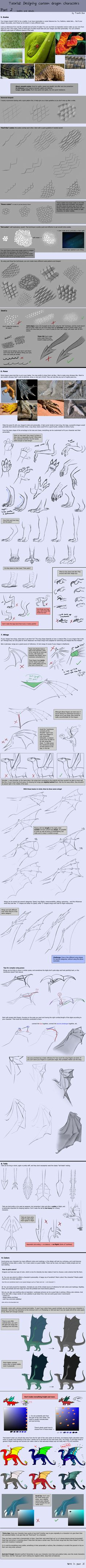 Tutorial: Dragon Designing Tips - part 2/3 by Fourth-Star on DeviantArt