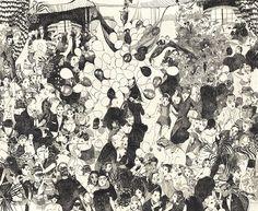Wonderfully detailed drawings by Brooklyn-based artist, Andie Dinkin. Dinkin studied illustration atthe Rhode Island School of Design where she graduated (with honours) in 2014. See more images below.        Andie Dinkin's Website