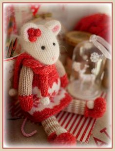 WINTER Mice at the TEAROOM
