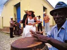 salsa dancing and music... in the streets.  Cuba...ultimate dream!!!