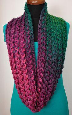 Purple- green hairpin scarf, Rainbow Hairpin scarf, Multicolor Lace scarf, #Infinityscarf #hairpinscarf #Giftforwomen, #Giftforher #Xmasgift