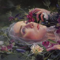 """By Kari-Lise Alexander Here's one of two pieces I'm exhibiting with Distinction gallery at the LA Art Show opening this week is """"Gray Waters oil on panel Check out the show if you can! Painting Inspiration, Art Inspo, Ophelia Painting, La Art, A Level Art, Surreal Art, Portrait Art, Portraits, Aesthetic Art"""