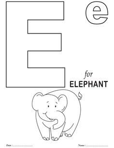 Printables Alphabet E Coloring Sheets