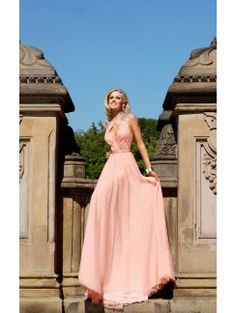 A-Line/Princess Jewel Sleeveless Sweep/Brush Train Dresses With Beading