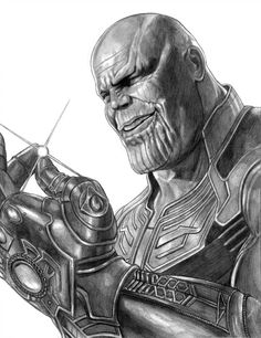 Thanos (Snap of Decimation) by on DeviantArt Realistic Pencil Drawings, Amazing Drawings, Art Drawings Sketches, Amazing Art, Avengers Drawings, Drawing Superheroes, Marvel Comics Superheroes, Celtic Tattoos For Men, Comic Art
