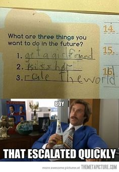 Three things you want to do in the future…