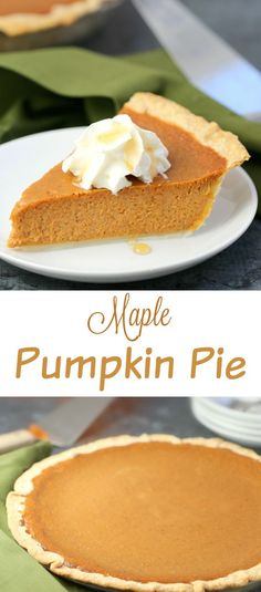 Maple Pumpkin Pie recipe, a Canadian adaptation on carnation's Classic Pumpkin…
